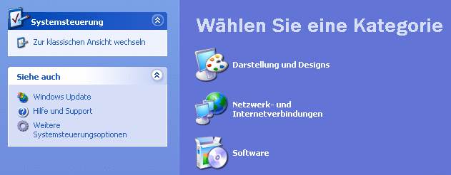 Systemsteuerung XP